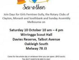 Day's for Girls Sew-a-thon