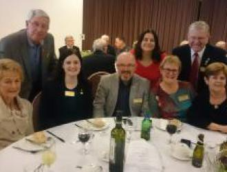 Members at the Rotary International President Nominee Ian Riseley and Juilet farewell lunch
