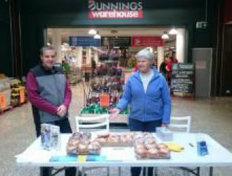 Cake stall at Bunnings